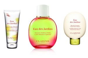Die Kosmetika von Clarins- Eau des Jardins: Körpercreme, Duschgel, Gesichtswasser